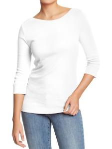 Old Navy White Boatneck