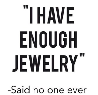 Jewelry saying