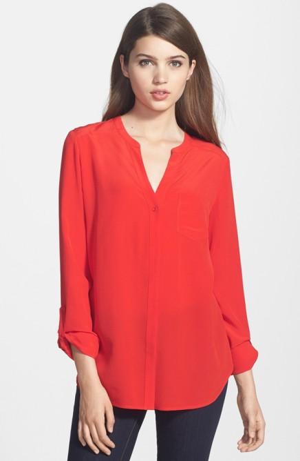 trouve silk blouse