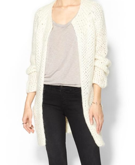 Winter White Cardi